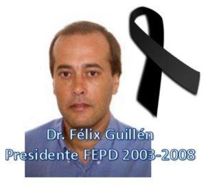 El Dr. Félix Guillén falleció el 6 de octubre de 2019 tras una larga enfermedad