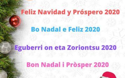 Feliz Navidad y Próspero 2020