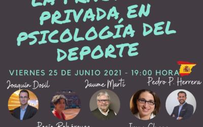 Mesa de trabajo: «La práctica privada en Psicología del Deporte», 25 de junio, on line